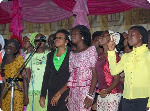 Teenagers' Choir Ministering