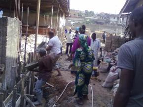 Constuction of the Children Church in progress